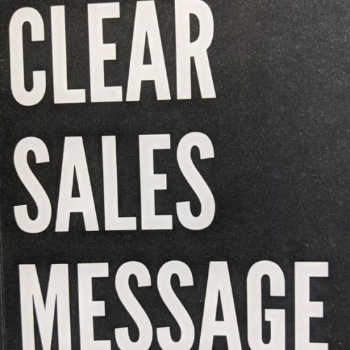 Clear Sales Message Book Review