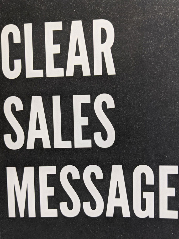 Image of book cover for Clear Sales Message