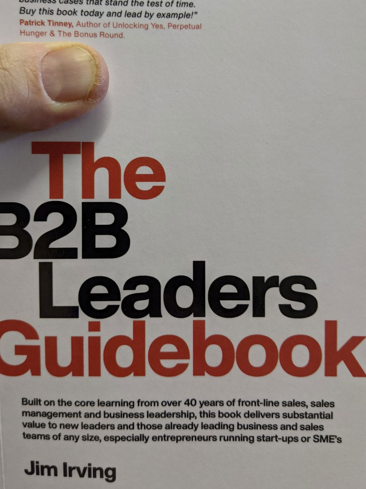 Image of the book cover of The B2B Leaders Guidebook